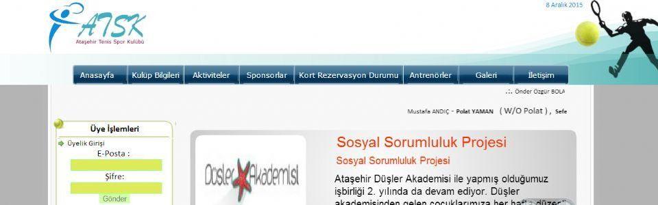 Ataşehir Tenis Kulübü Web Sitesi